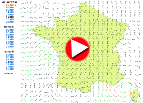carte des vents France video